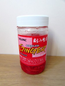 Pickled red ginger