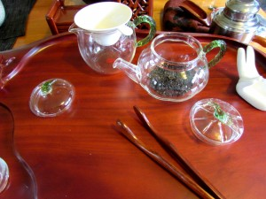 Set up for tea ceremony